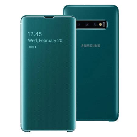 Samsung Galaxy S10 Zap by Official Samsung Galaxy S10 Plus Clear View Cover Green Reviews