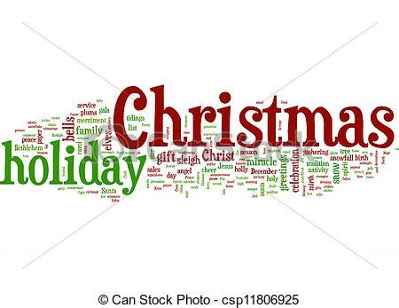 words that describe christmas clip of a simple collage of words describing csp11806925 search