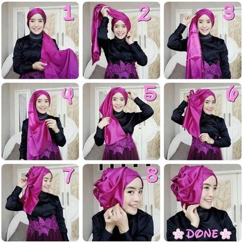 tutorial hijab pesta baju kebaya tutorial jilbab terbaru untuk kebaya kreasi terpopuler