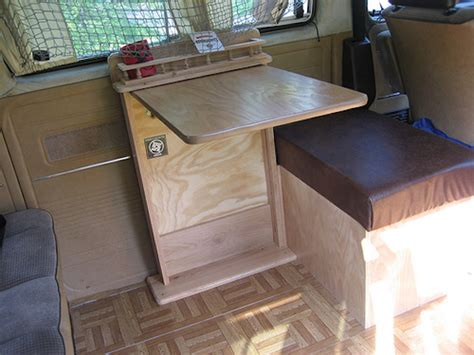 custom table  bench   vanagon vanagon hacks