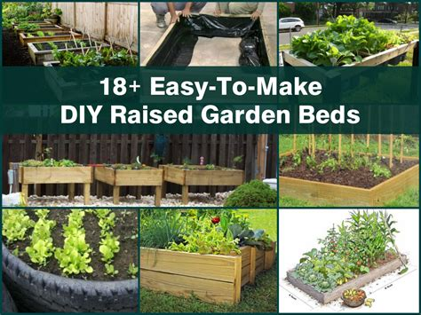 Easy Garden Bed Ideas 18 Easy To Make Diy Raised Garden Beds