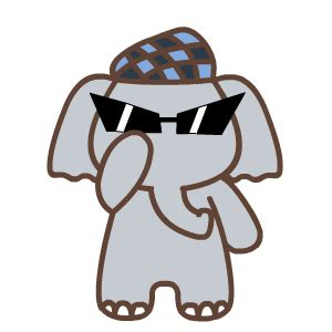 cute elephant animation emoji funny gifs box emoji emoticons