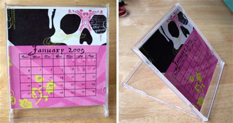 How To Make Your Own Desk Calendar by Home Dzine Make Your Own Desk Calendar