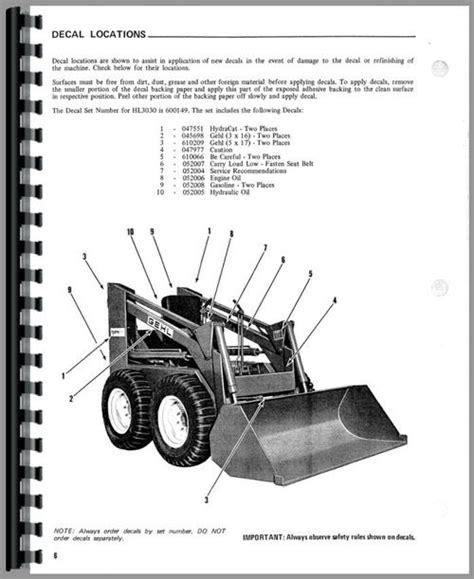 Gehl Hl3030 Skid Steer Loader Operators Manual