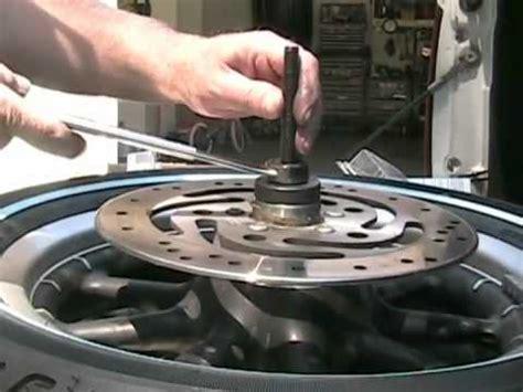 harley davidson wheel bearing change and tire information