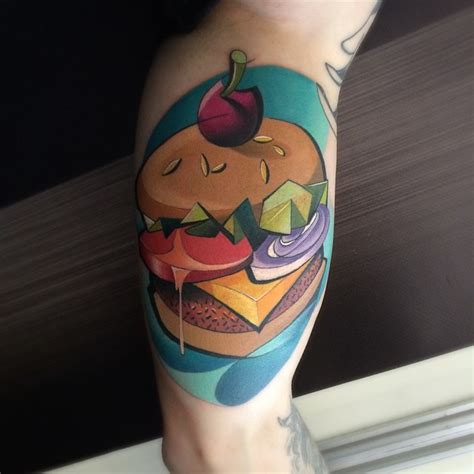 hamburger tattoo tasty hamburger best ideas gallery