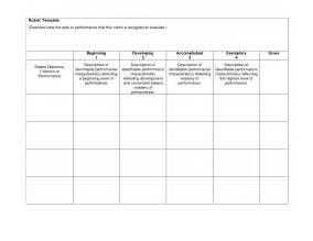 Blank Rubric Template by Doc 585436 Rubric Template Rubric Template 47 Free