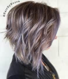 shag haircut brown hair with lavender grey streaks the prettiest pastel purple hair ideas