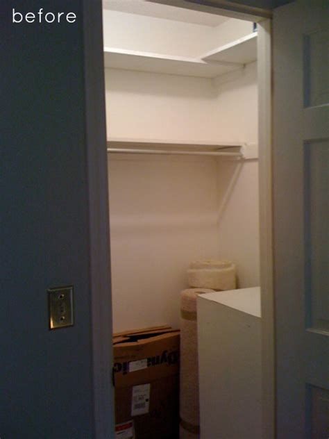 converting powder room to full bath before after closet makeover design sponge