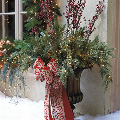 outdoor urn decor christmas decoration news