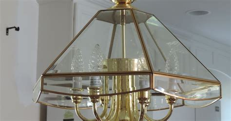 Chagne Glass Chandelier Change A Chandelier From Brass To Chrome Hometalk