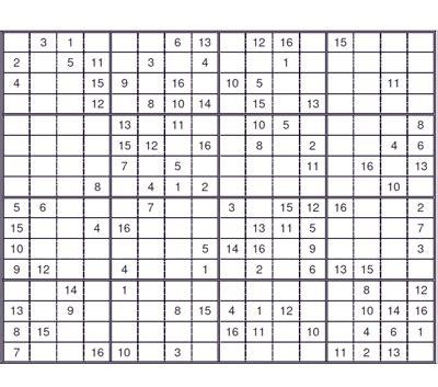 free sudoku printable puzzles