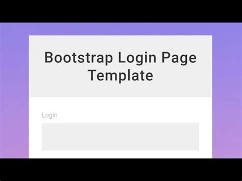 bootstrap login page template free bootstrap login page template free html website