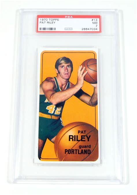 Pat Rilet Mba Card 1970 71 topps pat rookie 13 psa 7