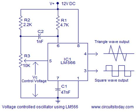 integrated circuit vco voltage controlled oscillator vco theory and working lm566 ic