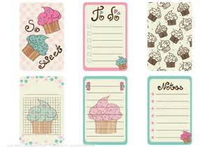 templates for scrapbooking to print printable scrapbooking notes with cupcakes free