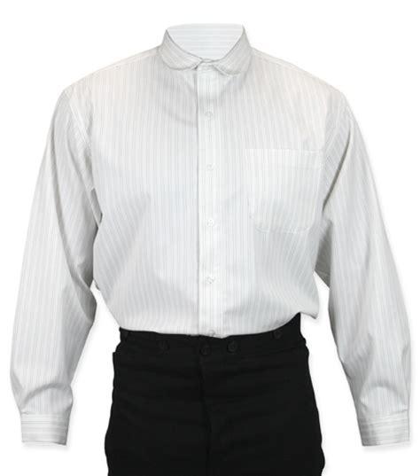 Wst 15832 Striped Collar Patch Shirt Virgil Shirt White Stripe