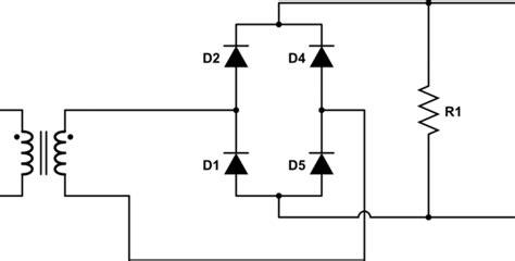 rectifier circuit questions wave rectifier vs wave bridge rectifier electrical engineering stack exchange