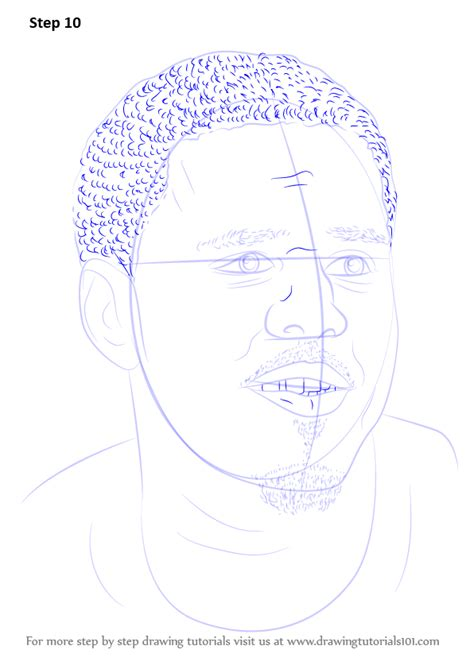 J Cole Drawing Easy by Learn How To Draw J Cole Singers Step By Step Drawing