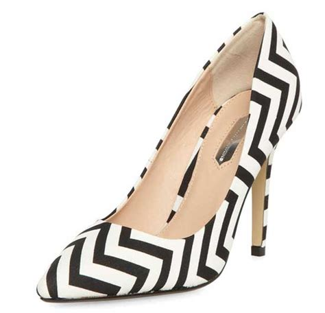 black and white chevron heels dorothy perkins black and white chevron print pumps