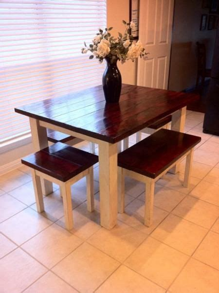 diy farmhouse bench 25 best 25 square kitchen tables ideas on