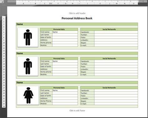 excel address book template best photos of phone directory template excel excel