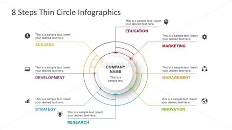 8 Ways To Look Skinnier In Just A Few Minutes by Thin Powerpoint Lines Circle Diagrams Slidemodel