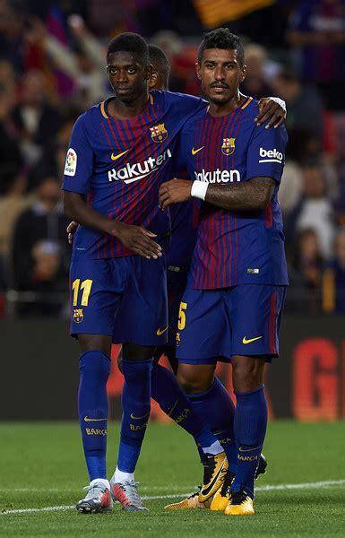 barcelona ousmane dembele barcelona v espanyol la liga c nou la liga and