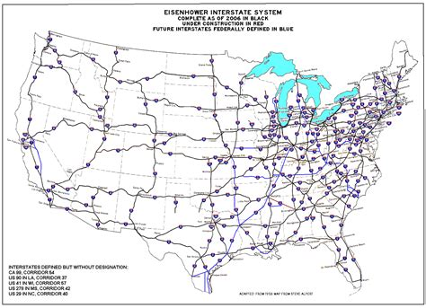 map of us interstates us interstate system