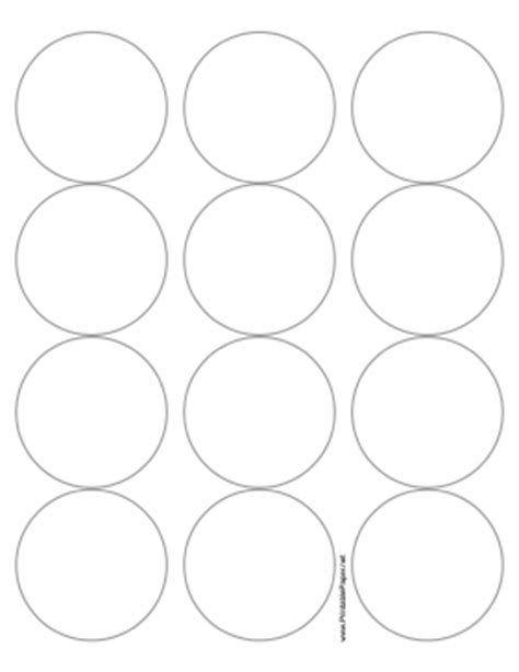 Printable Round Label 2 5 Inches Diameter Printable 12 Inch Circle Template