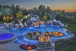 Awesome Pools Backyard Triyae Awesome Backyard Pools Various Design Inspiration For Backyard