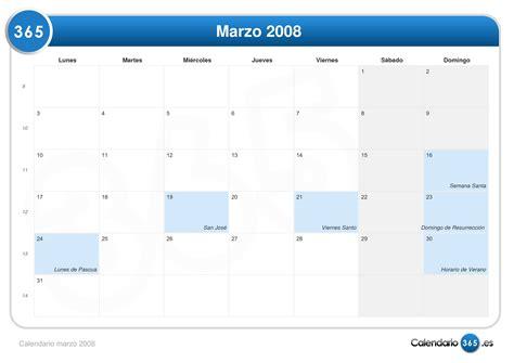 Calendario Marzo 2008 Calendario Marzo 2008