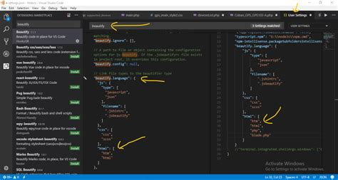 format html shortcut visual studio laravel how to format php files with html markup in