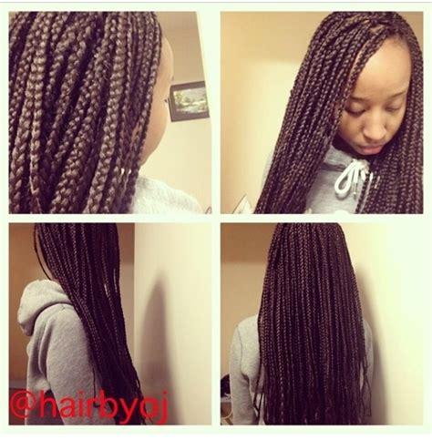 medium sized individual braids medium sized waist length braids 171 hairbyoj