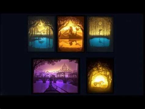 How To Make Papercut Light Boxes Youtube Papercut Lightbox Template