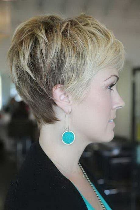 back and side view of short layered hairstyles short pixie haircuts back view