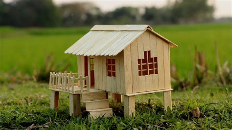 how to make popsicle stick house for