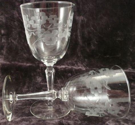 Glass Vases For Candy Bar Set Of 2 Antique Crystal Wine Glasses Vintage Crystal