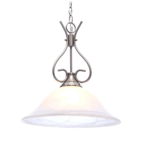 brushed nickel pendant light classy style kitchen lights