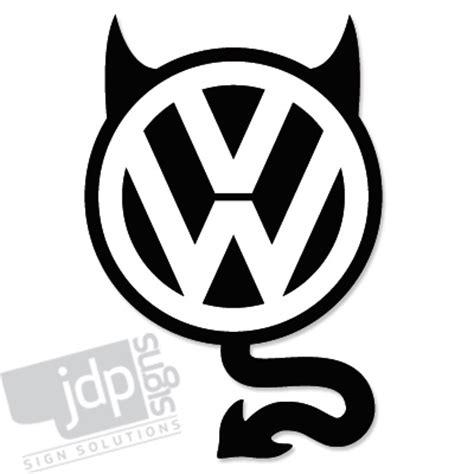 Vw Aufkleber Teufel by Jdp Signs Vw Devil Vinyl Decal Sticker