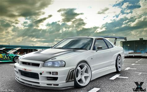 nissan skyline r34 modified nissan skyline r34 gt r v spec 2000 nismo nissan white