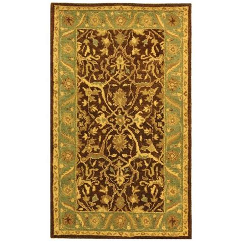 brown and green rugs safavieh antiquity brown green 4 ft x 6 ft area rug