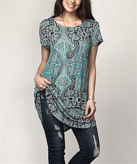 who is the zulily model reborn collection aqua paisley boyfriend tunic plus