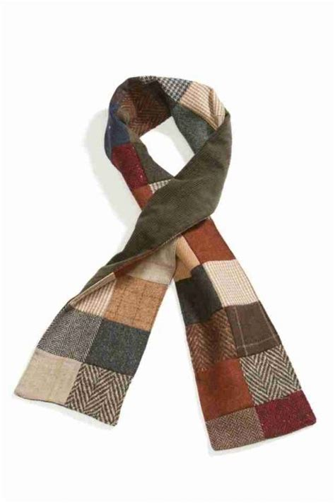 Patchwork Scarf - patchwork tweed scarf backed in corduroy doesn t look