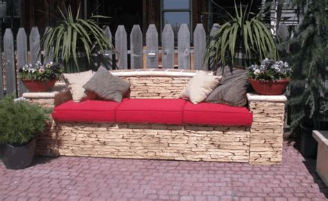 make your own sofa cushions make your own outdoor sofa by stacking stones and using