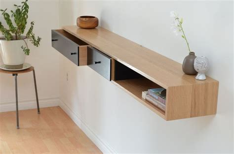 Floating Console With Drawer floating console table white oak shelf wraps tables and the website