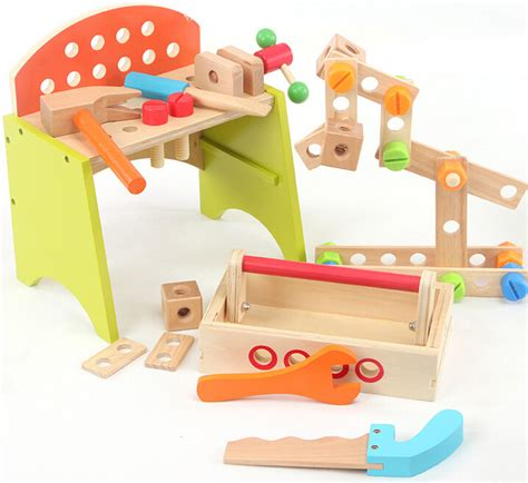 wooden tool bench toy toy box bench promotion shop for promotional toy box bench