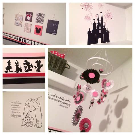 disney inspired room nursery pink black grey
