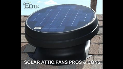 Solar Attic Fans Pros Cons Elite Solar Lighting Fans