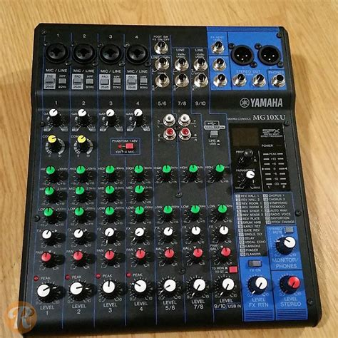 Mixer Yamaha Mg10xu yamaha mg10xu analog mixer reverb